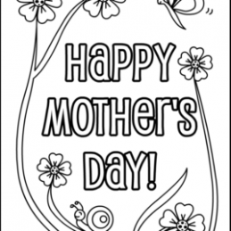 259x259 Mothers Day Coloring Pages