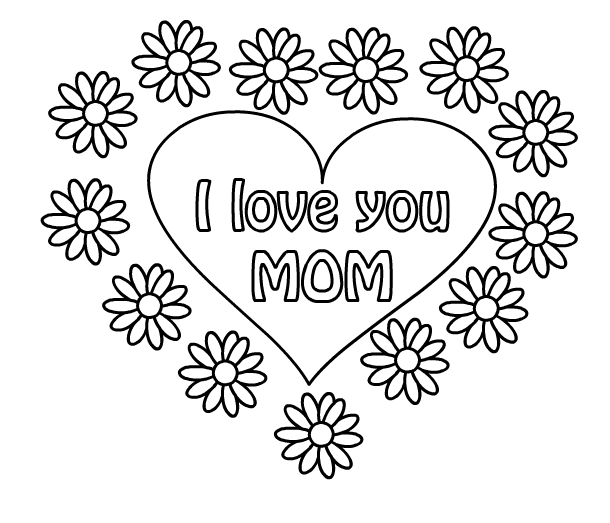 610x523 Mothers Day Coloring Pages Heartfelt