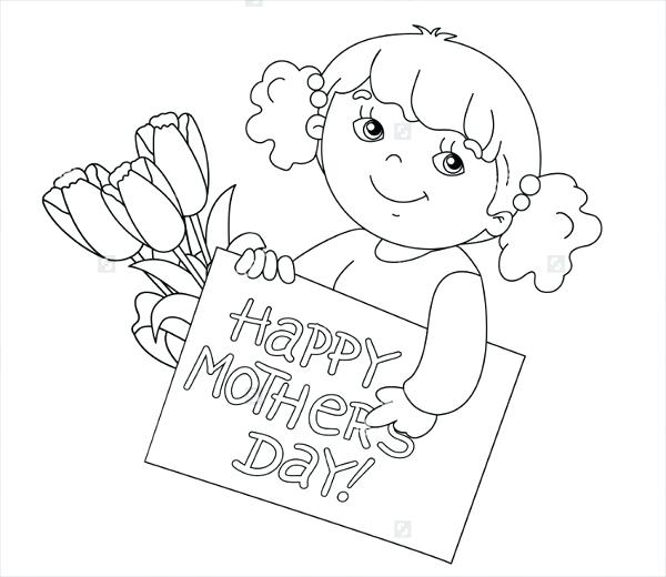 600x520 Mothers Day Coloring Pages Mothers Day Day Cards Free Mothers Day