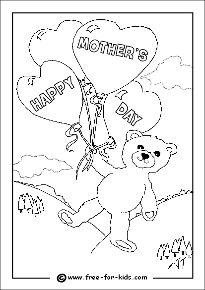 413x585 Mothers Day Colouring Sheets