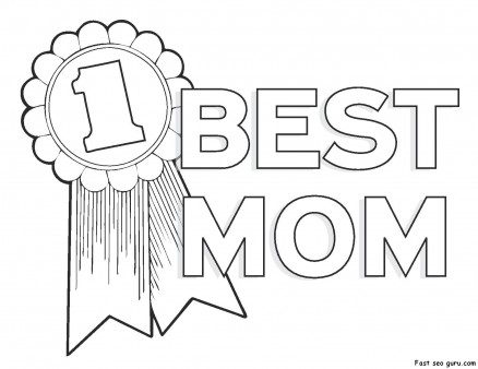 438x338 Printable Happy Mothers Day Coloring Pages