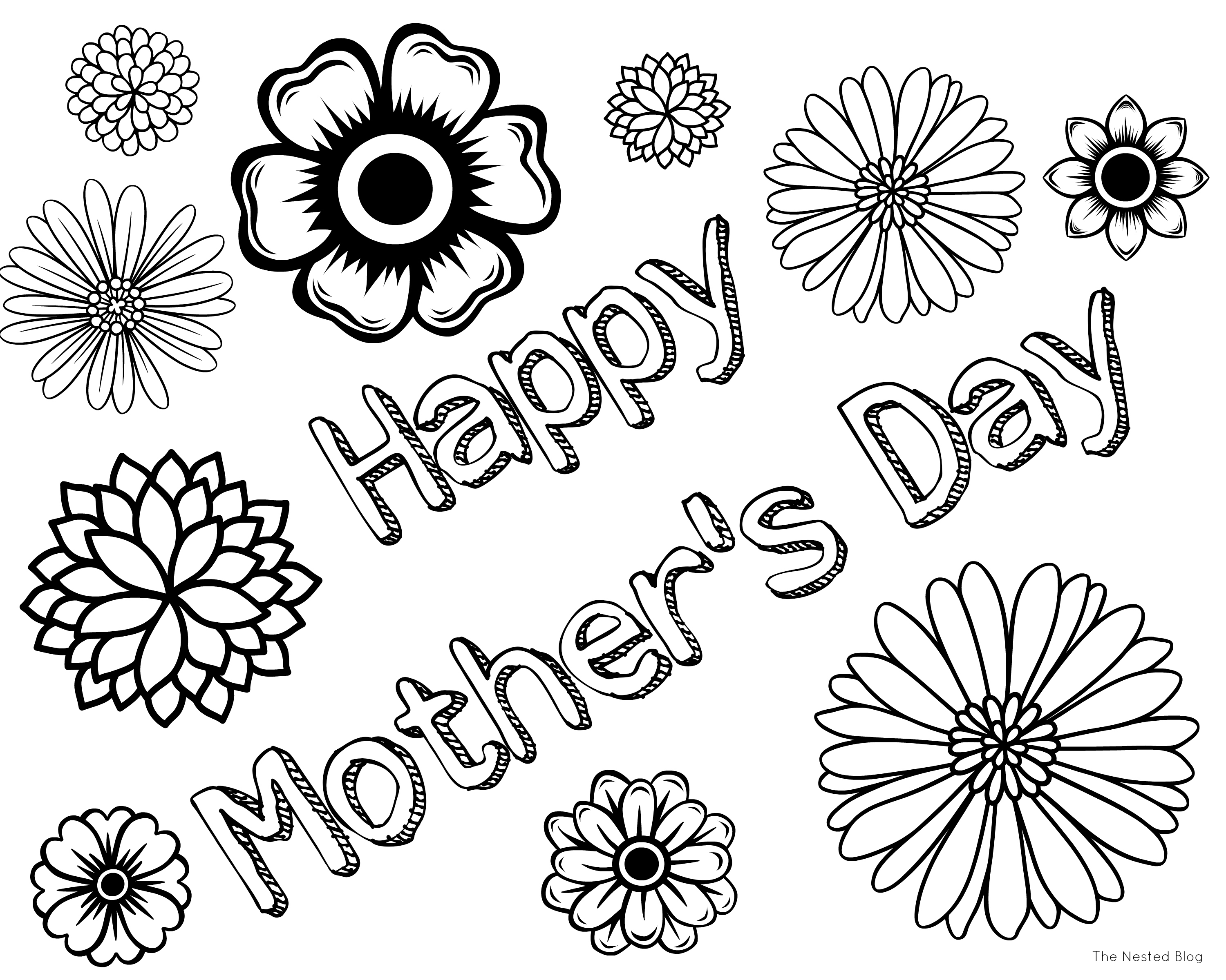 3000x2400 Sampler Mothers Day Coloring Pages For Preschool Kids Just