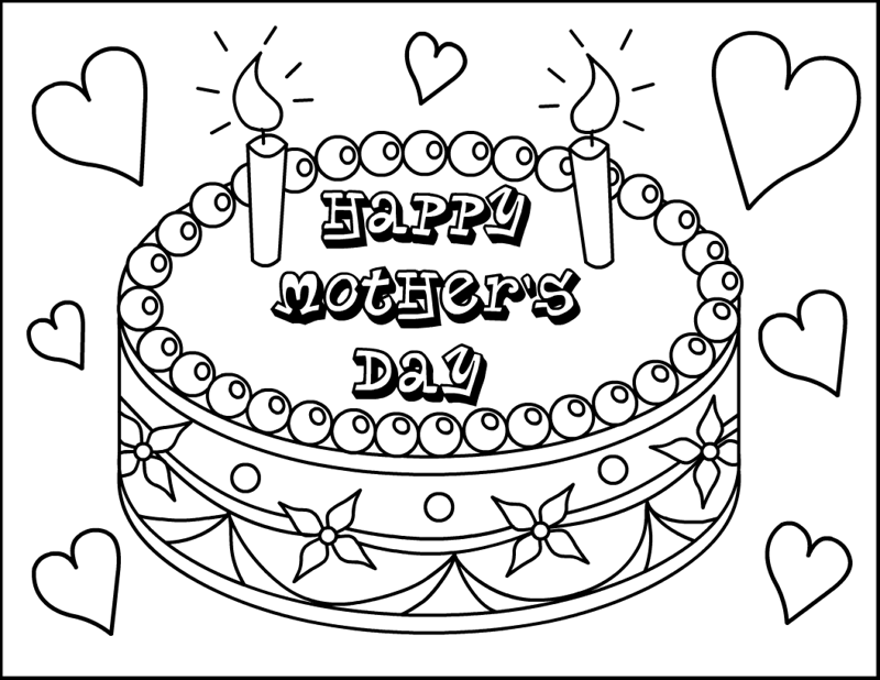 800x618 Mother Day Coloring Pages For Kids