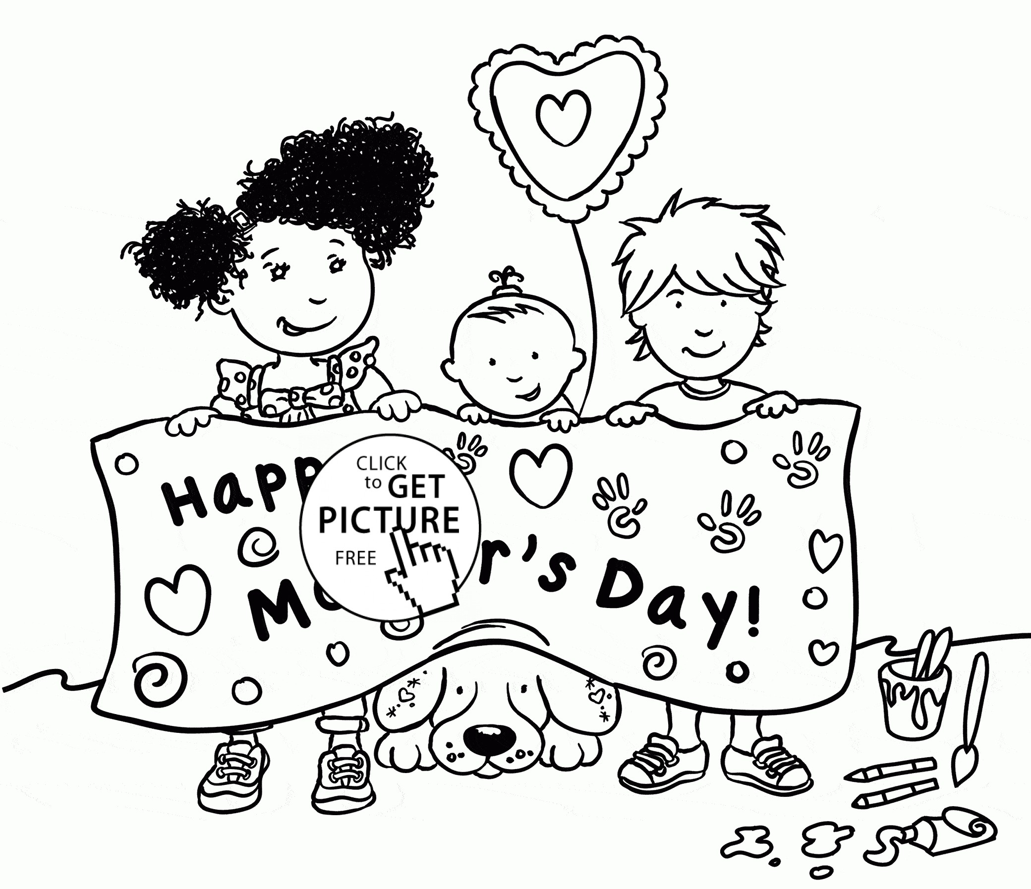2080x1794 Free Kindergarten Mothers Day Coloring Pages Fresh Modest Happy