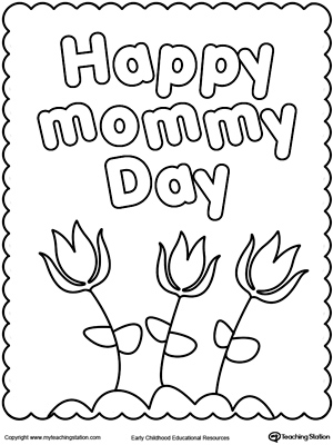 300x400 Happy Mother's Day Coloring Page