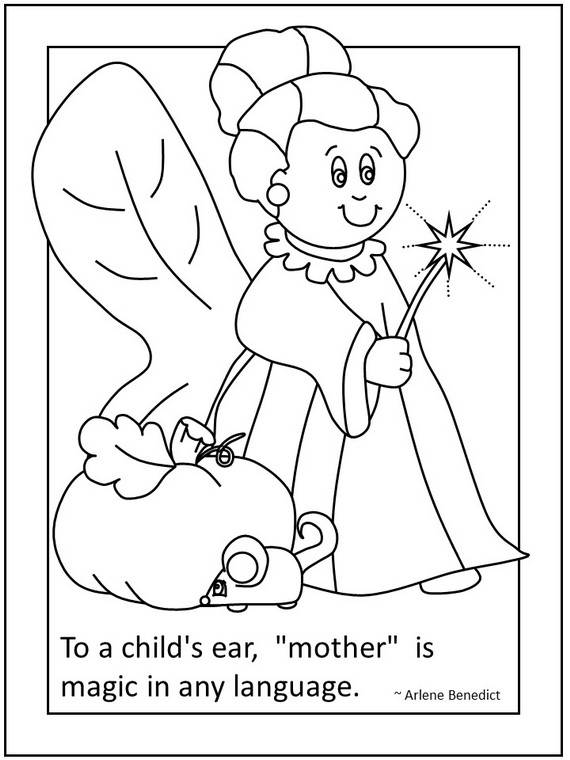 570x760 Happy Mothers Day Coloring Pages For Kids