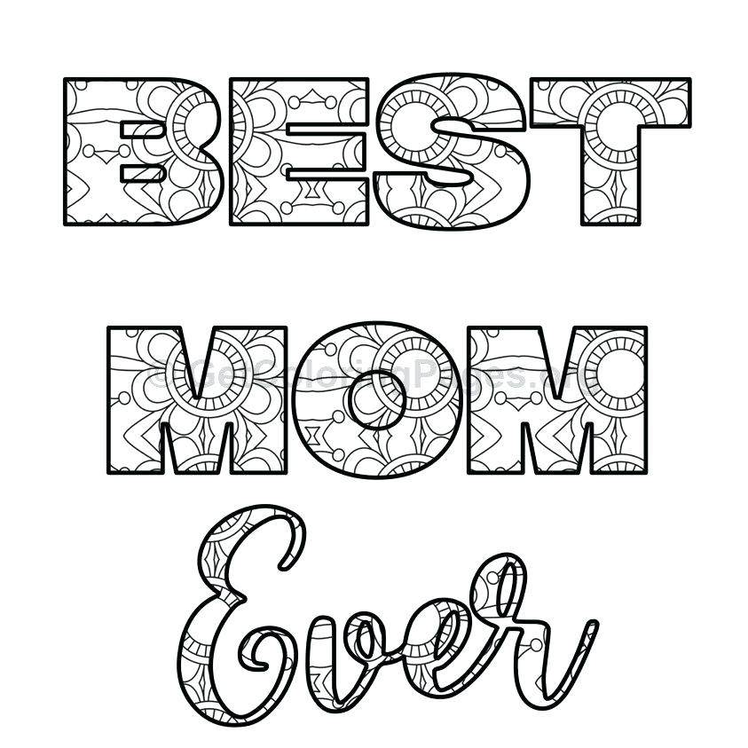 843x843 Mothers Day Coloring Pages Best Mother Colouring Page Mothers Day