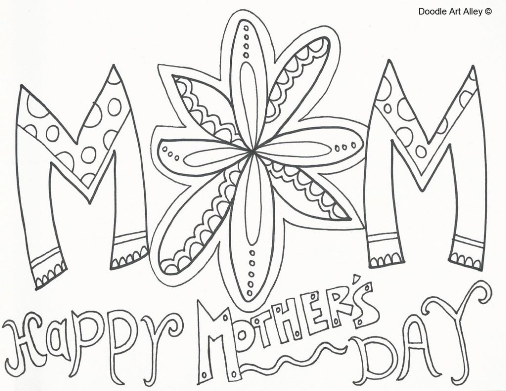 1024x791 Mothers Day Coloring Pages For Preschool