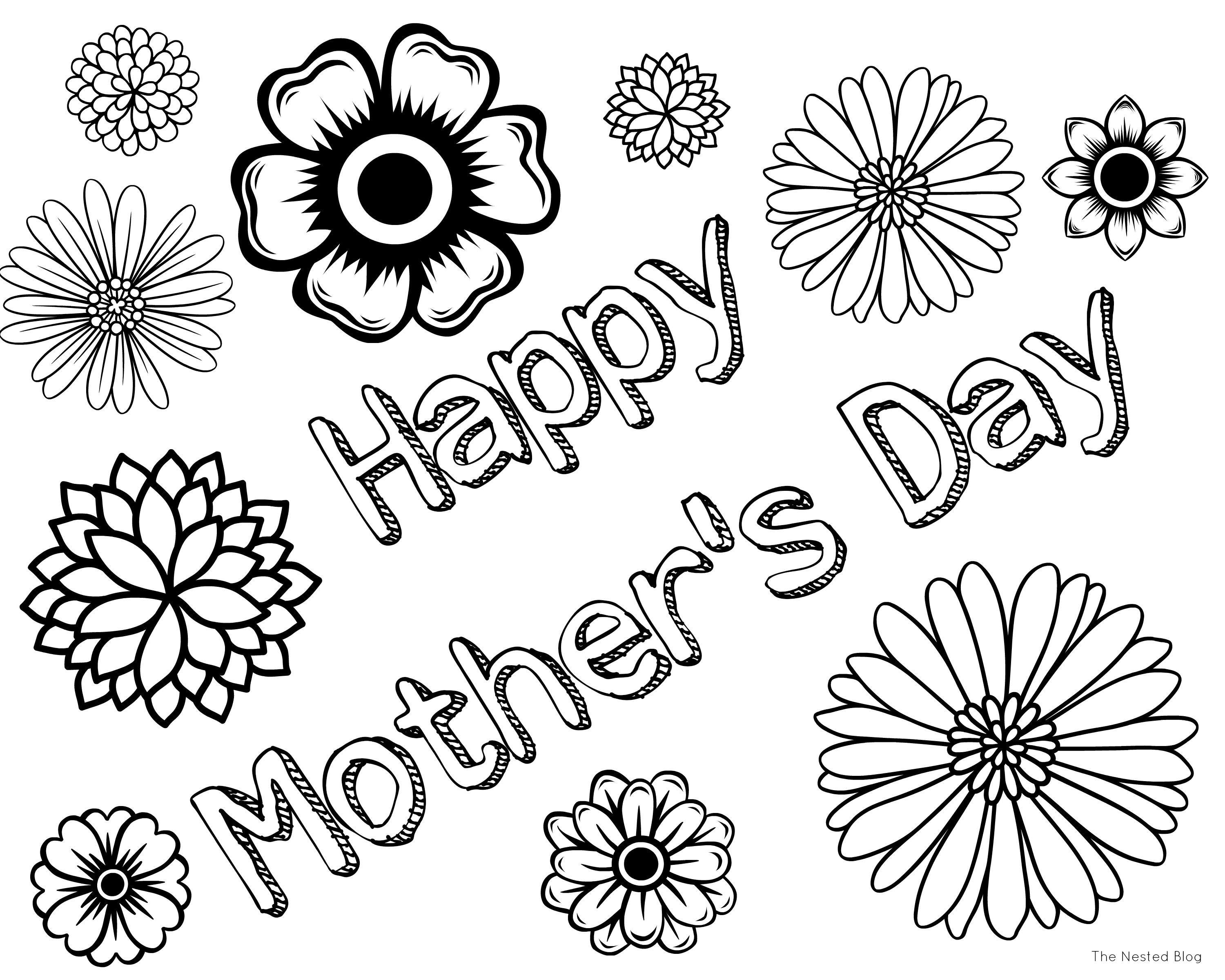3000x2400 Awesome Mothers Day Flower Coloring Pages Gallery Printable