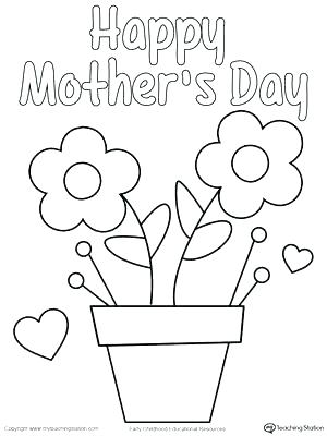 300x400 Mothers Day Coloring Pages For Toddlers Happy Mothers Day Coloring