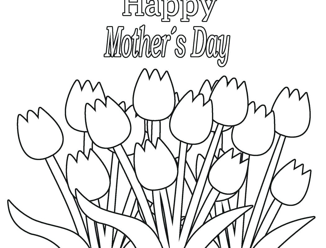 1050x800 Mothers Day Colouring Pages For Toddlers Great Happy Coloring