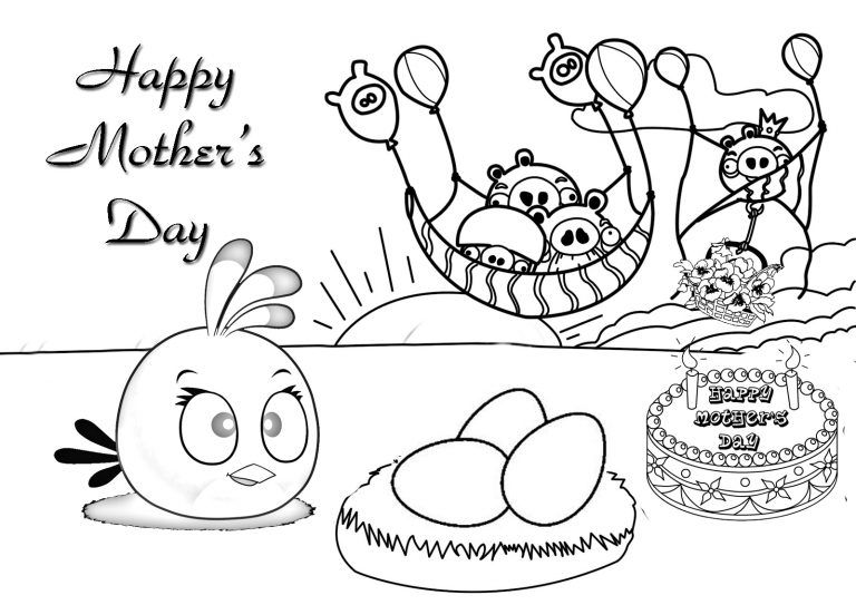 768x543 Free Kindergarten Mothers Day Coloring Pages Best