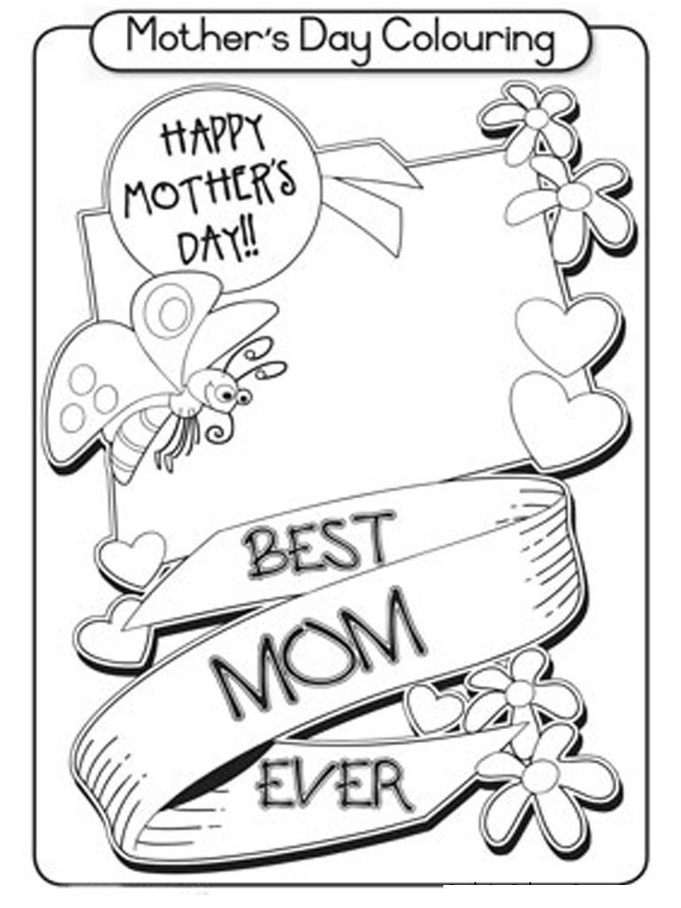 768x1024 Free Kindergarten Mothers Day Coloring Pages For Children Kids