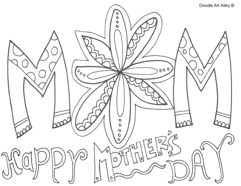 Mothers Day Printable Coloring Pages At Getdrawings Com