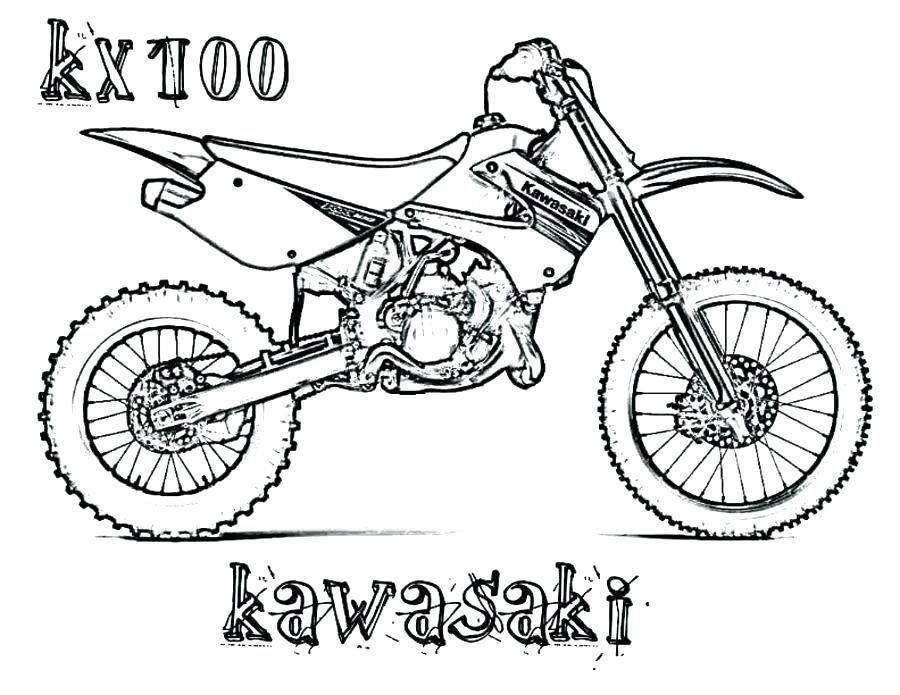 Motocross Coloring Pages At Getdrawings Com Free For Personal Use