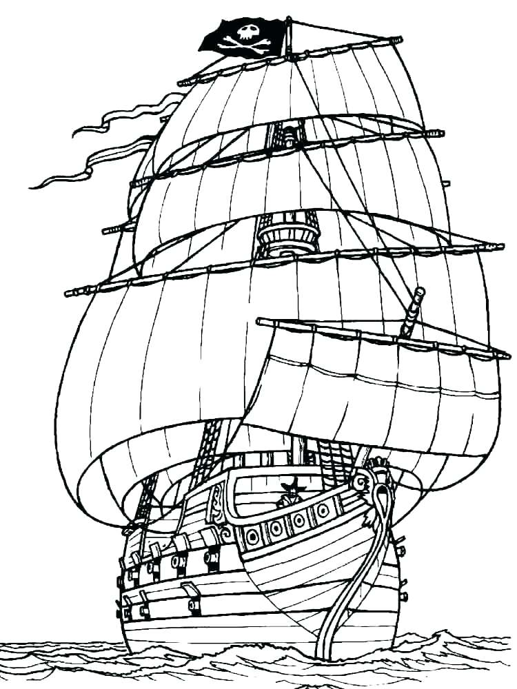 750x1000 Coloring Pages Boats Galleon Sailing Boat Coloring Pages Coloring