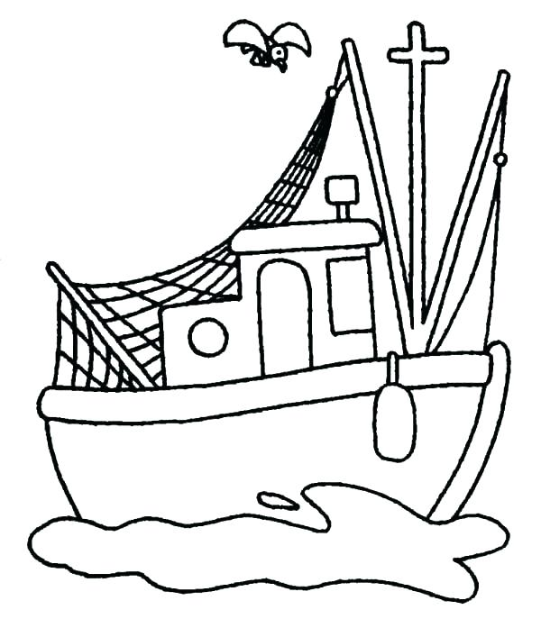 600x697 Colouring Pages Fishing Boats Kids Coloring Speed Boat Coloring