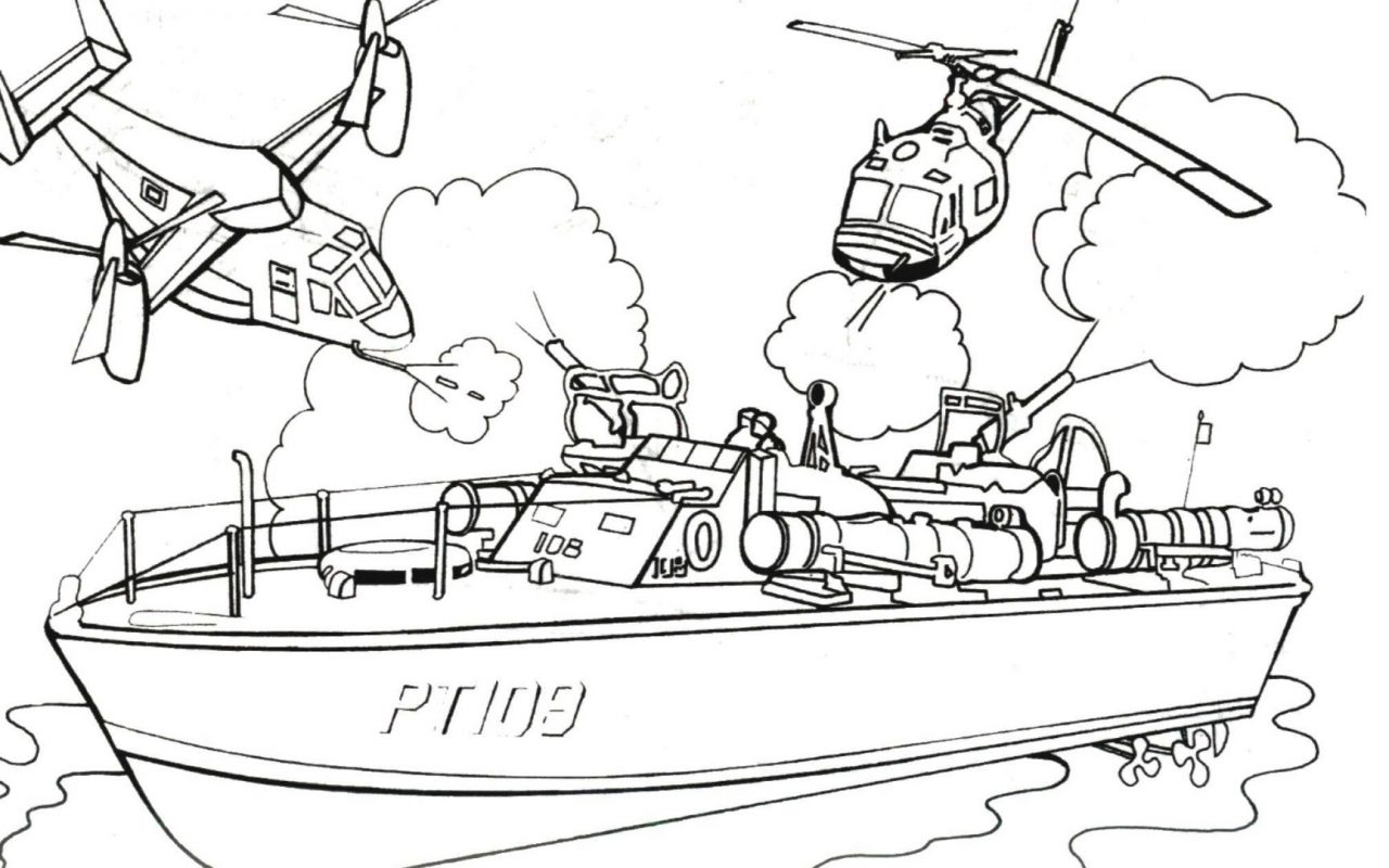 1280x800 Police Boat Coloring Pages Colors For Kids With Vehicles