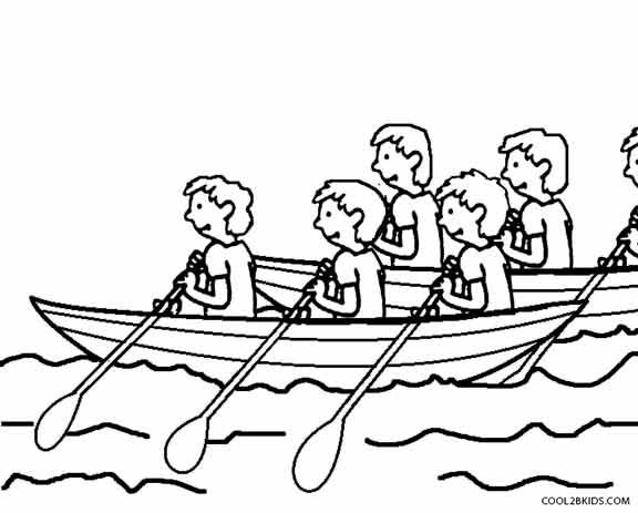 576x463 Printable Boat Coloring Pages For Kids