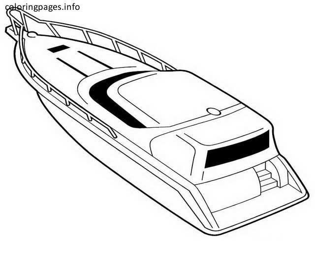 640x513 Speed Boat Coloring Pages Coloring Pages Boating