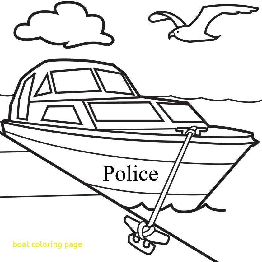 842x842 Boat Coloring Page With Motor Boat Coloring Pages