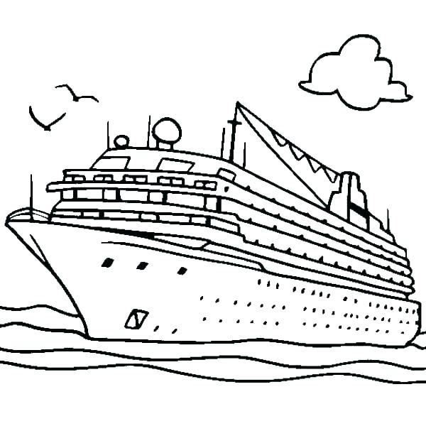 600x600 Boat Coloring Pages Speed Boat Coloring Sheets Colouring For Cure