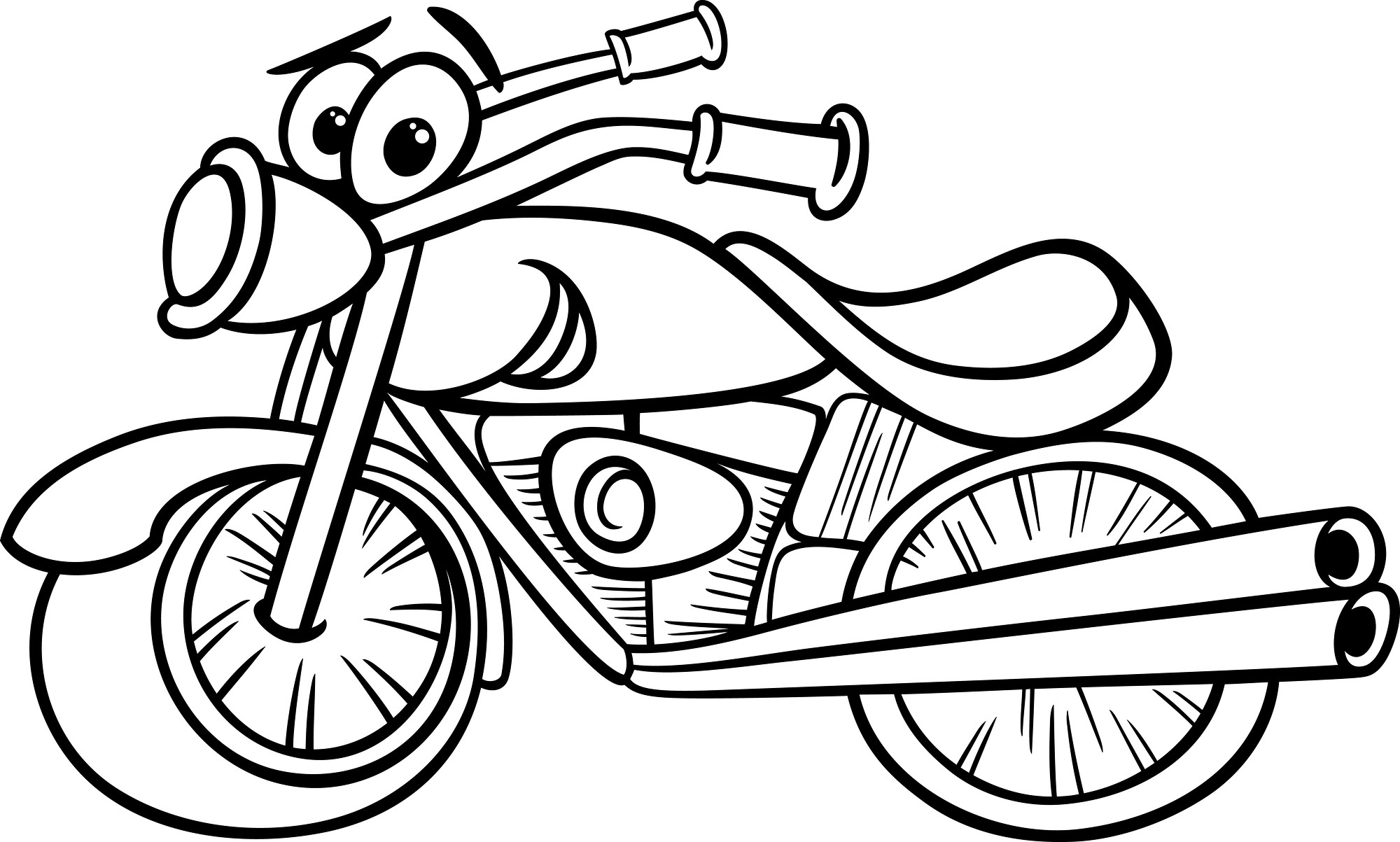 2000x1203 Motor Cycle Coloring Page Wagashiya