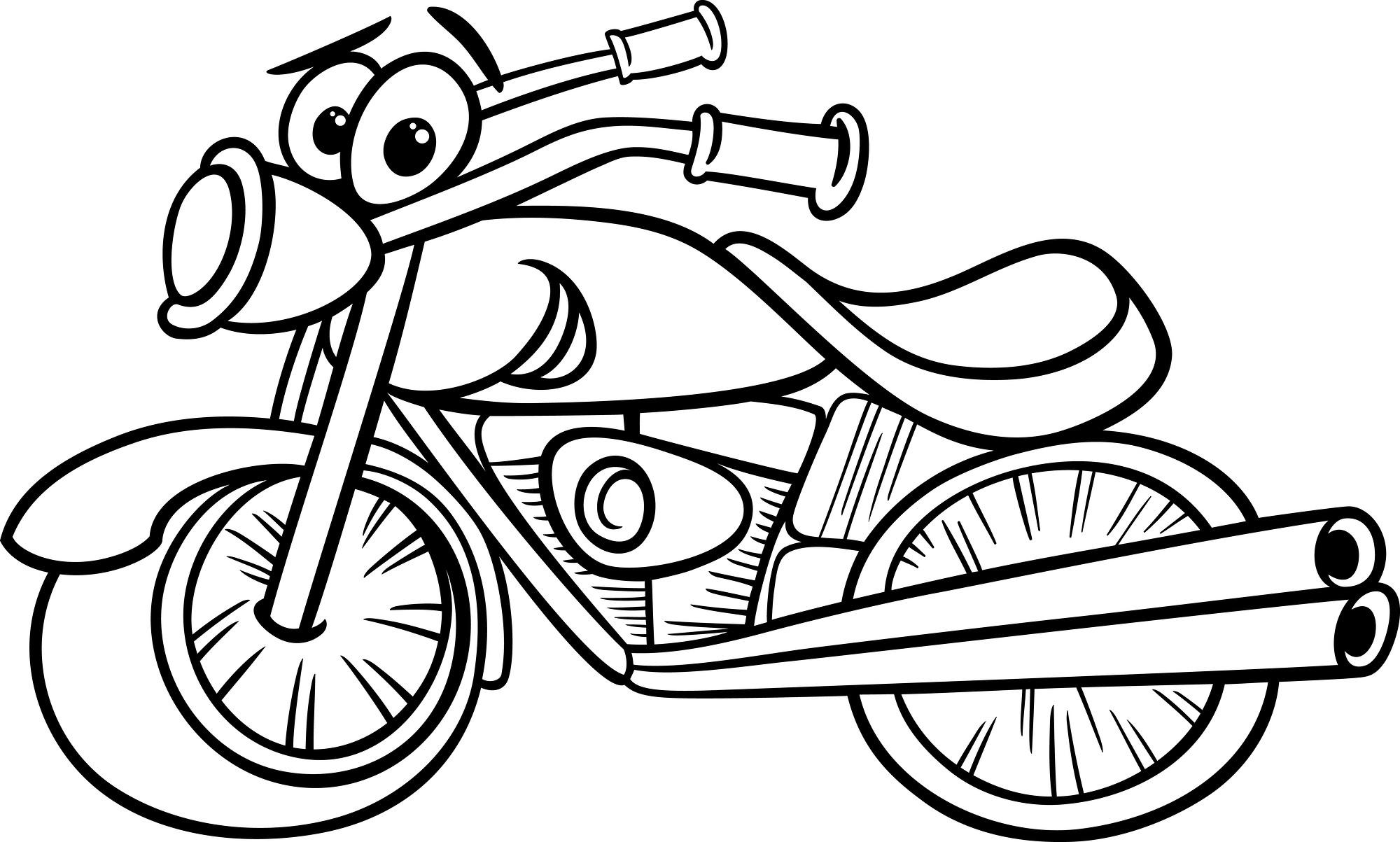 2000x1203 Motor Cycle Coloring Page Wagashiya