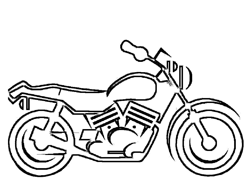 1056x757 Motorcycle Coloring Page