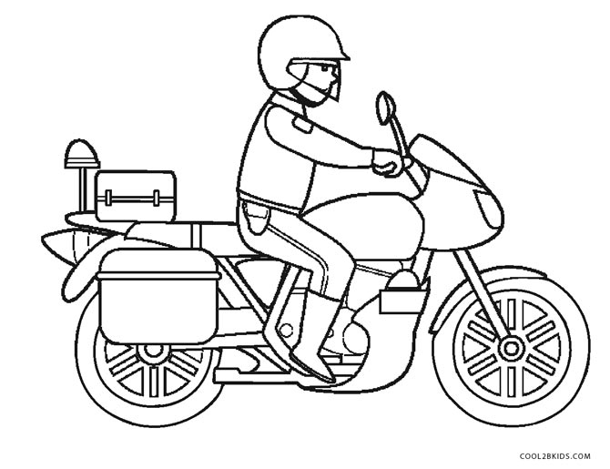 670x515 Attractive Police Motorcycle Coloring Pages Sketch