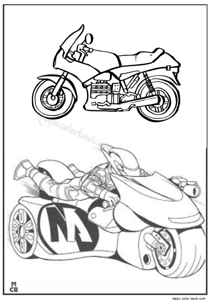 685x975 Motorcycle Coloring Pages