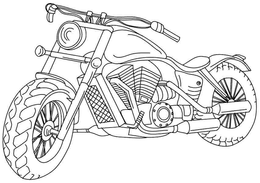 853x600 Motorcycle Coloring Pages Printable Free Printable Motorcycle