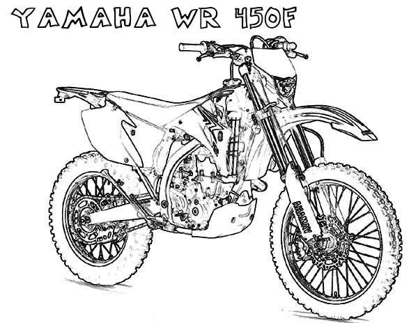600x464 Yamaha Motorcycle Coloring Page