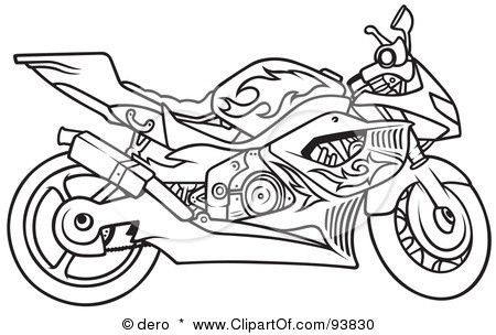 450x304 Cool Motorcycle Coloring Pages Free Printable