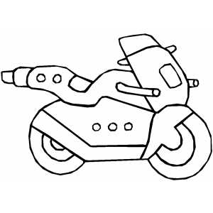 300x300 Futuristic Motorcycle Coloring Page