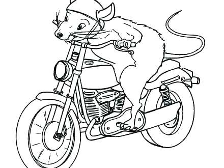 440x330 Free Printable Motorcycle Coloring Pages For Kids Motorcycle