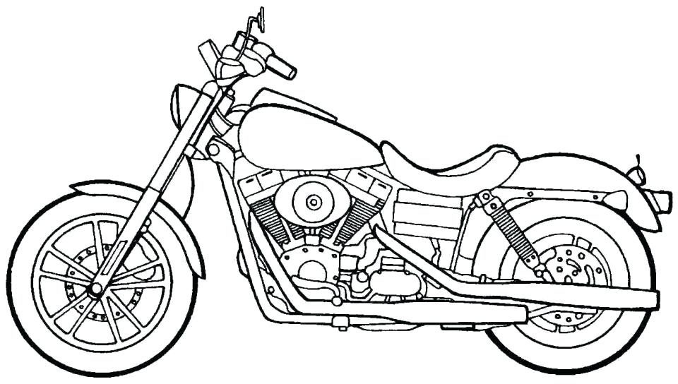 960x544 Motorcycle Coloring Pages Easy Police Page Free Printable Amazing