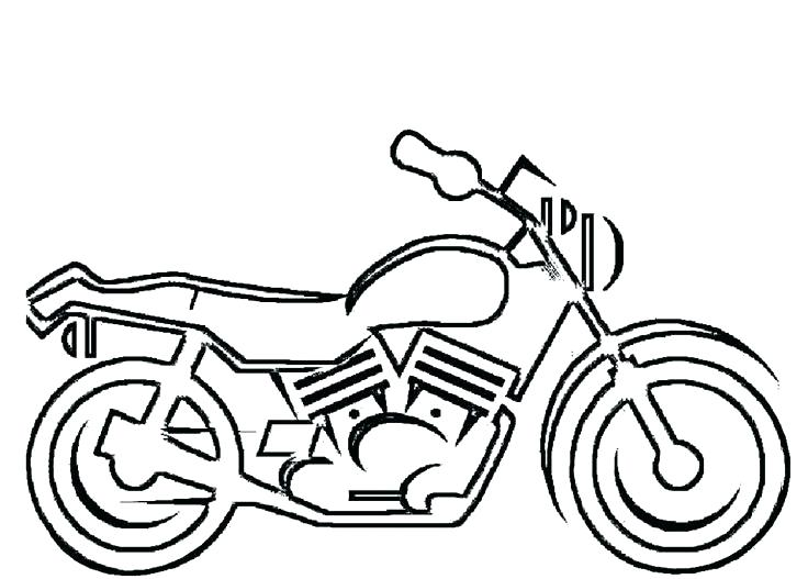 736x527 Motorcycle Coloring Pages Printable Motorcycle Colouring Page
