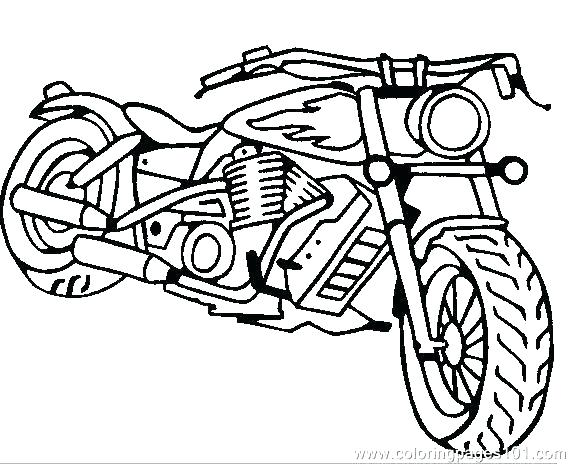 570x464 Bmx Bike Coloring Pages