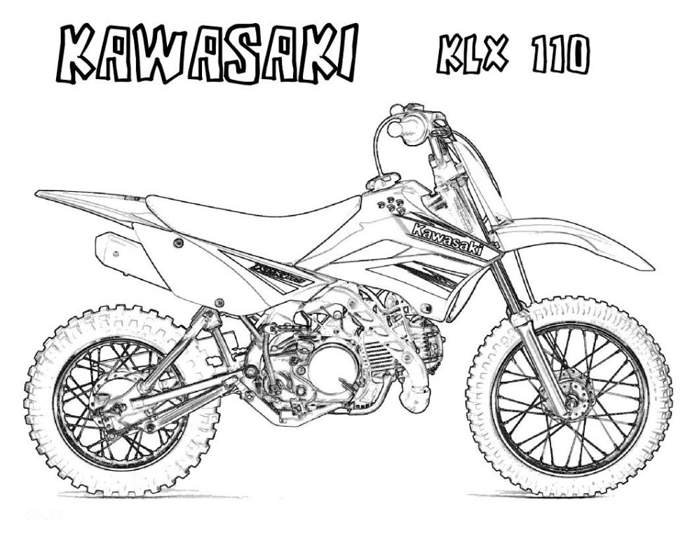 994x768 Motorcycle Coloring Pages For Adults