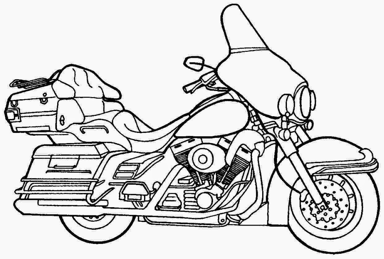 1242x840 Creative Design Motorcycle Coloring Pages Harley Davidson