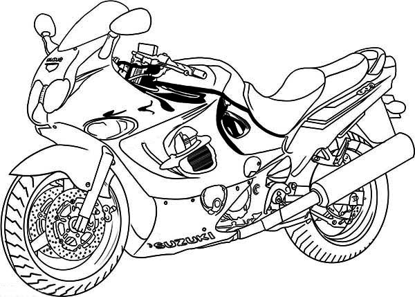 600x429 Extraordinary Inspiration Motorcycle Coloring Pages To Print