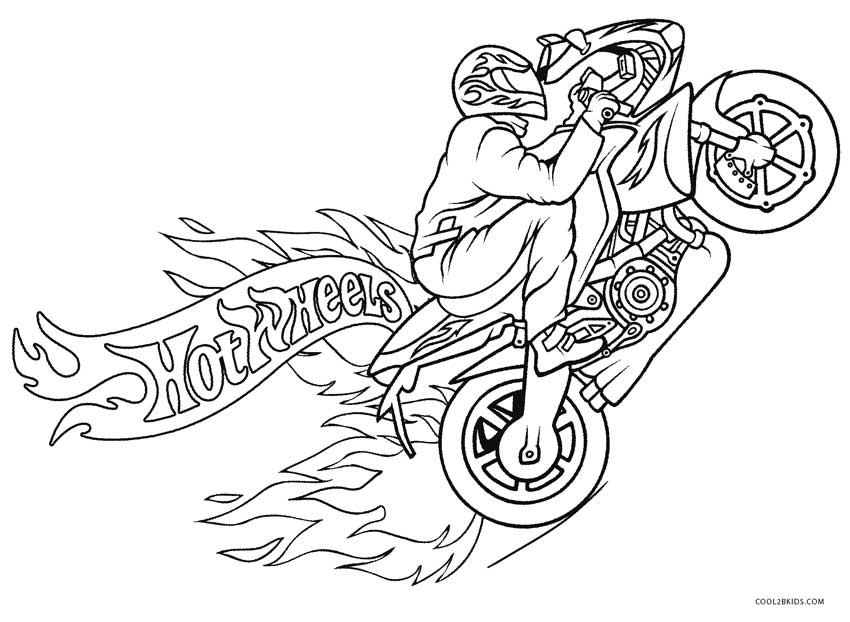 850x622 Free Printable Motorcycle Coloring Pages For Kids