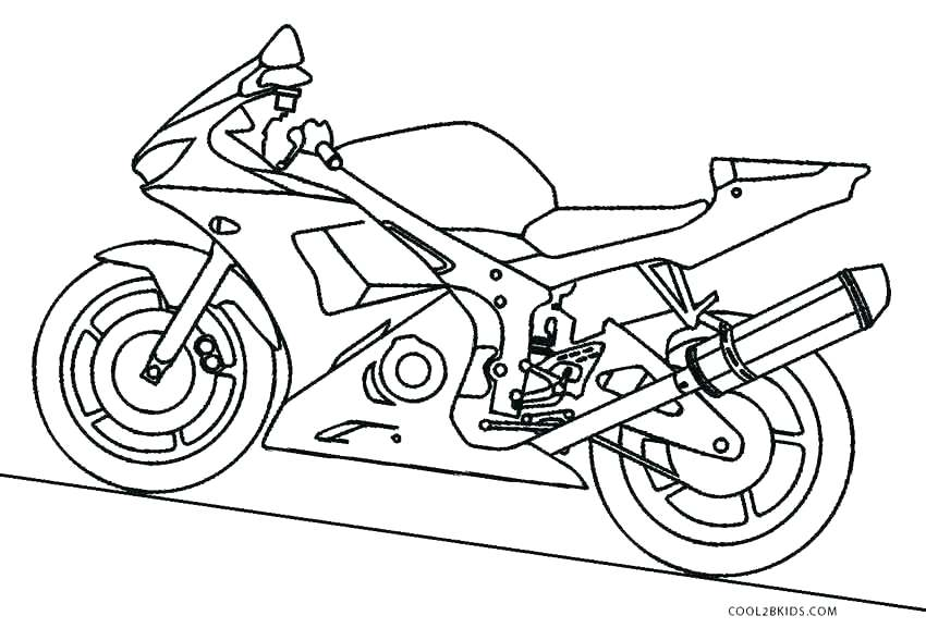 850x577 Motorcycle Coloring Pages Printable Coloring Pictures