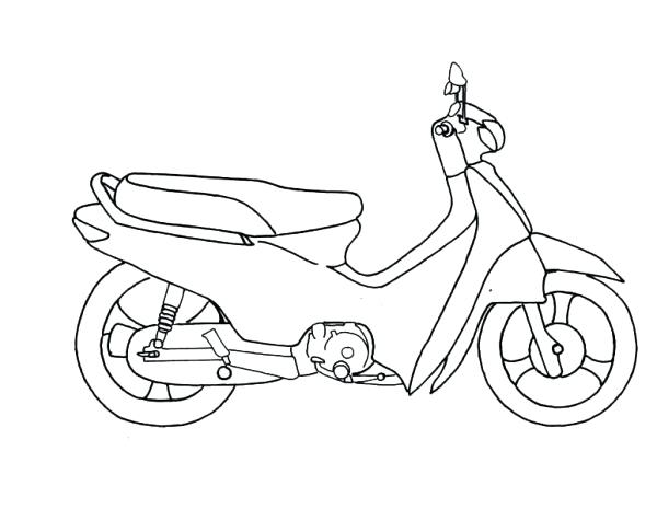 600x465 Motorcycle Coloring Pages Printable Motorcycle Scooter Coloring