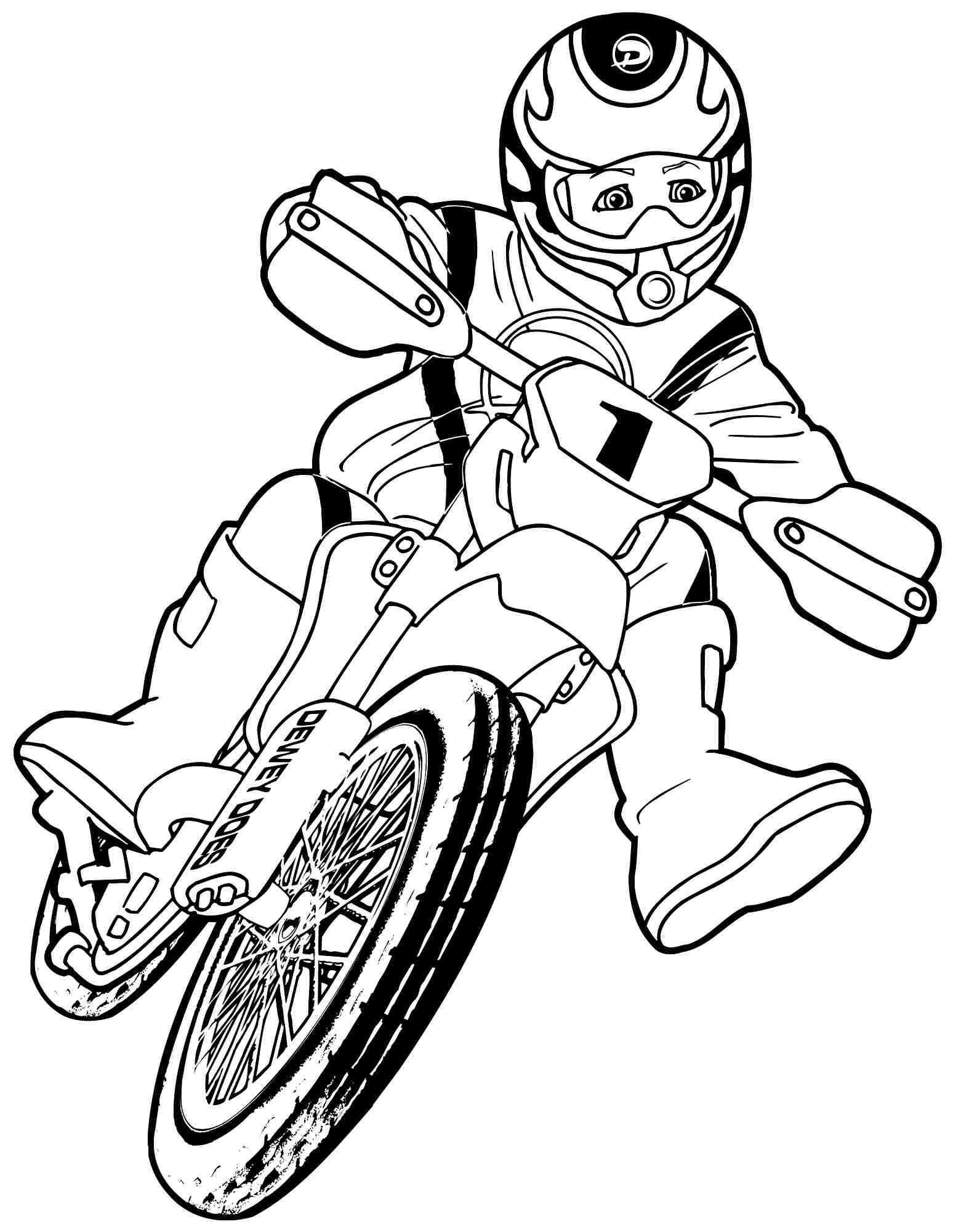 1548x2000 Motorcycle Coloring Pages To Print