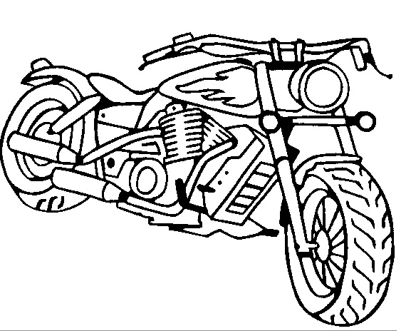 570x464 Motorcycle Coloring Pages