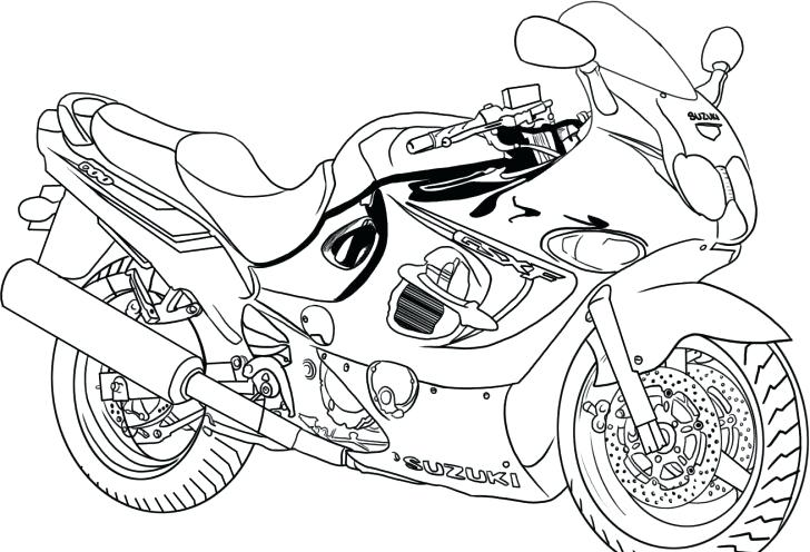 728x496 Printable Coloring Pages For Boys Also Printable Motorcycle