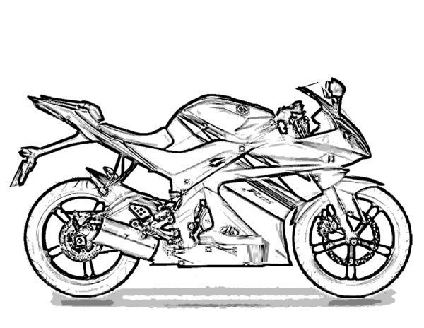 600x464 Motorcycle Coloring Pages To Print
