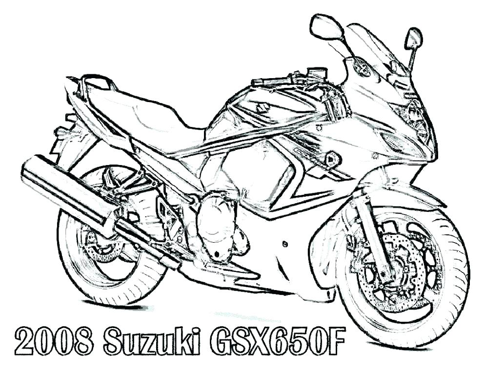 994x768 Motorcycle Coloring Pictures